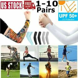 10Pair Cooling Arm Sleeves Basketball Golf Sport UV Sun Protection Tattoos Cover