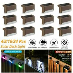 Outdoor Solar LED Deck Lights Path Garden Pathway Patio Stairs Step Fence Lamp