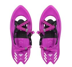 """Winterial Pika Flat Terrain 18"""" Pink Snowshoes For Kids 4 11 With Carry Bag NEW $31.58"""