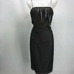 Margon Black Cocktail Dress Small