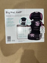 EvenFlo Big Kid Amp 2 in 1 Pink Black Grey Car Seat 40 110lbs 40 57in . $40.00