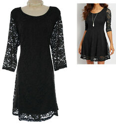 1X 16 Womens BLACK LACE STRAPPY BACK DRESS Evening Wedding Cocktail PLUS SIZE $49.99