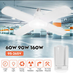 160W 12000LM Deformable LED Garage Light Super Bright Shop Ceiling Lamp Bulb $16.99