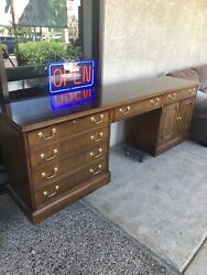 """92"""" long Councill Traditional Desk Office Credenza $1270.00"""