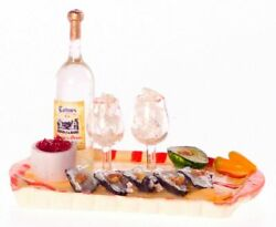Dollhouse Miniature Oyster Cocktail on a Platter $19.99