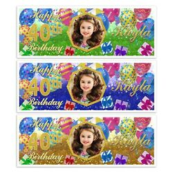 ADD YOUR IMAGE HAPPY BIRTHDAY PHOTO PARTY BANNER WALL BOYS GIRLS DECORATIONS GBP 4.99