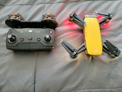 DJI Spark Fly More Combo 1080p Camera Drone Yellow 128gb SD plus extras $400.00