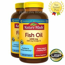 Nature Made Fish Oil 1200 mg OMEGA 3 360mg Softgels #1 Pharmacist recommended $27.95