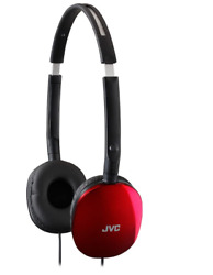 On Ear Headphones Wired JVC Extra Bass Unit Headset Foldable Red Slim Long Cord $19.07