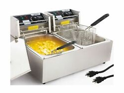 Commercial Deep Fryer Countertop for Home with 2 x 6.34 QT Removable Tanks an... $206.79