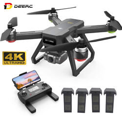 DEERC D15 GPS Drone with 4K UHD EIS Camera 5G Wifi FPV RC Quadcopter Brushless $199.98