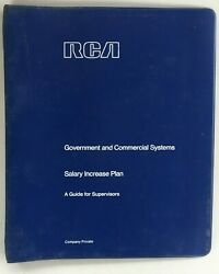 RCA Government amp; Commercial Systems Salary Increase Plan PRIVATE 3 Ring Binder