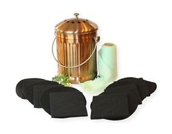 Gardenatomy Copper Kitchen Compost Bin Indoor Countertop – LARGE 1.3 Gallon F... $54.47