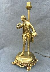 Antique french lamp base made of regule with gold tone early 1900#x27;s marquis jack $299.00