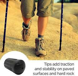 6 Pcs Replacement Rubber Tips Hiking Poles Walking Trekking Trail End Caps Stick $8.99