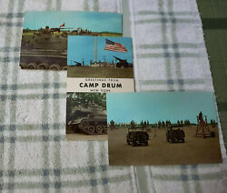3 Lot CAMP DRUM NY Postcard Un used TANKS amp; Firing range 1968 era $14.00