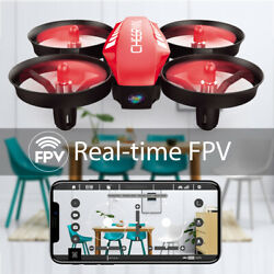 Mini RC Drone with Camera FPV Wifi Headless RC Pocket Drone Quadcopter Kids Gift $29.98