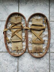 WWII Army Heer mountain troops pair Eamp;S marked snowshoes dated 1943 Bear Paw *SS $125.00