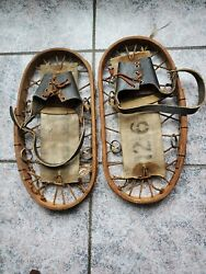 WWII Army Heer mountain troops pair marked snowshoes Bear Paw *SS027 $125.00