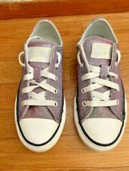 Converse All Star Girls Multicolor Shimmer Sneakers Size 13 $18.99