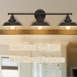 3 lighting Wall Mount Sconce Lamp Industrial Adjustable Angle Light Home Fixture $33.66