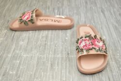 **Melissa Beach Slide Flower Sandal Women#x27;s Size 8 Pink Green $33.00