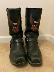 Harley Boots with Harley Logo Embroidered on $150.00