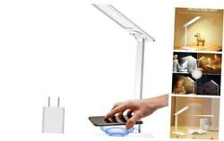 LED Desk Lamp with USB Charging PortDimmable Office Desk Lamps with Wireless $28.60