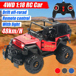 1:18 Remote Control Car RC Electric Off Road Racing Truck Vehicle 4WD Xmas Gi $57.73