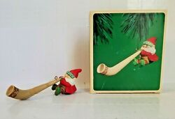 Alpine Elf 1984 This Elf Hanging In The Tree Blowing His Horn Hallmark Ornament $9.99