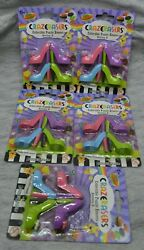 Lot of 5 CRAZERASERS Collectable Series 2 Novelty High Heel Shoes Erasers NEW $12.77