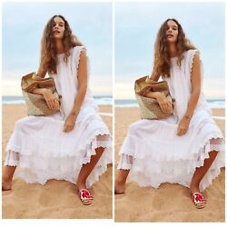 NWT Free People Until Next Time Maxi Dress Endless Summer Size Small White $110.00