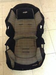 EVENFLO Black amp; Gray CAR SEAT w HEADREST Replacement Infant cushion #25805247 $15.50