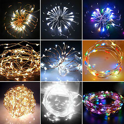 Battery Micro Wire Copper Fairy String Lights Lamp Party Decoration 20 30 40 LED $10.63