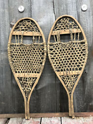 RARE Amazing Antique Indian Native American Hand Crafted KIDS Snowshoes 22x9 $225.00