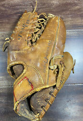 Vintage Hank Bauer Rawlings trapeze Baseball Glove TG 36 Right Hand thrower $63.99