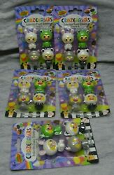 Lot 5 CRAZERASERS Series 2 Novelty Animals Frog Bunny Panda Erasers NEW $12.77