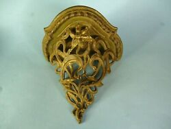 Ornate Antique Victorian Cast Iron Wall Shelve Picture or Candle Holder $49.95