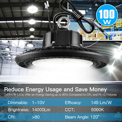 LED UFO High Bay Light 100W 12000LM Industrial Commercial Lighting Fixture 480V