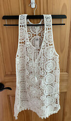 Abercrombie and Fitch Swim White Crochet Cover Up Size XS S BRAND NEW $50.00