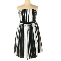 Lane Bryant Dress Striped Strapless Party Cocktail Plus Size 20 NWT Lined $27.75