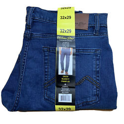 New Urban Star Men#x27;s Relaxed Fit Straight Leg Jeans Blue 32X29 $28.99