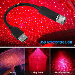 Car Interior Roof LED Star Light USB Atmosphere Starry Sky Night Projector Lamp $6.19