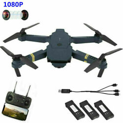 Drone X Pro Foldable Quadcopter WIFI FPV 1080P HD Camera 3 Extra Batteries Black $29.99