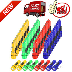 48 Pieces Mini Flashlight Keychain Assorted Colors Toy Flashlight Hiking Camping $24.99