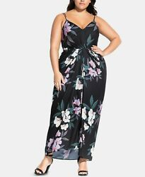 City Chic Trendy Plus Size Floral Print Maxi Dress 20W $29.99
