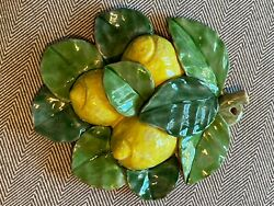 Vietri Pottery Wall Hanging With Lemon.Made painted by hand in Italy $50.00