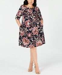 Connected Trendy Plus Size Floral Print Fit amp; Flare Dress $20.99