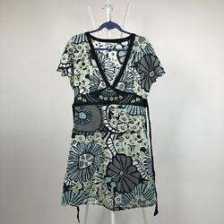 Tramp Summer Casual Floral Dress Ethnic Flowers Size L Cotton Boho $12.90