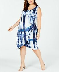 Love Squared Trendy Plus Size Tie Dyed Dress 2X $13.99